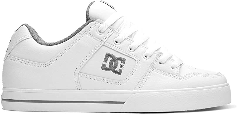 DC Shoes Pure High Top Women Leather Mesh Trainers In White Black Size UK 3-8
