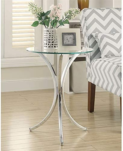 Deal of the week: BOWERY HILL Round Glass Top Accent End Table