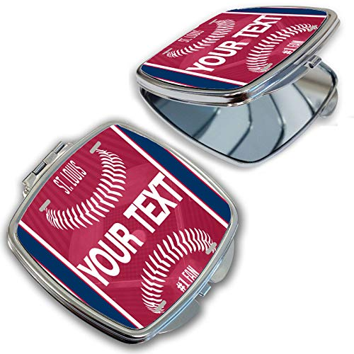 (BRGiftShop Customize Your Own Baseball Team St. Louis Compact Pocket Cosmetic Mirror)