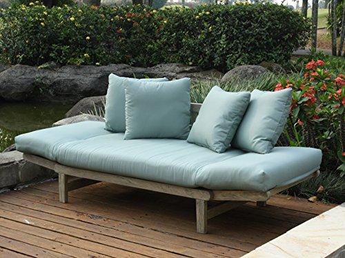 Cambridge casual 460109blu west lake convertible sofa for Sofa exterior amazon