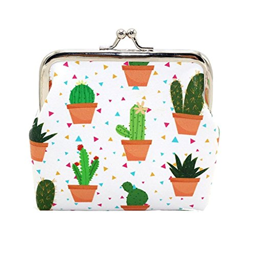 Creazrise Women Girls Cactus Snacks Coin Purse Cute Change Pouch Key Holder (B) by Creazrise (Image #2)