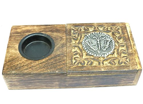 Affaires Ashtray + Case Wooden Handcrafed Beautiful Designer Square Shaped Indian Handmade Gift Item W-40113 by Affaires
