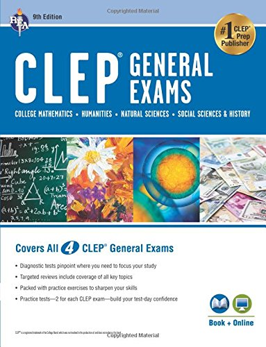 CLEP General Exams Book + Online, 9th Ed.