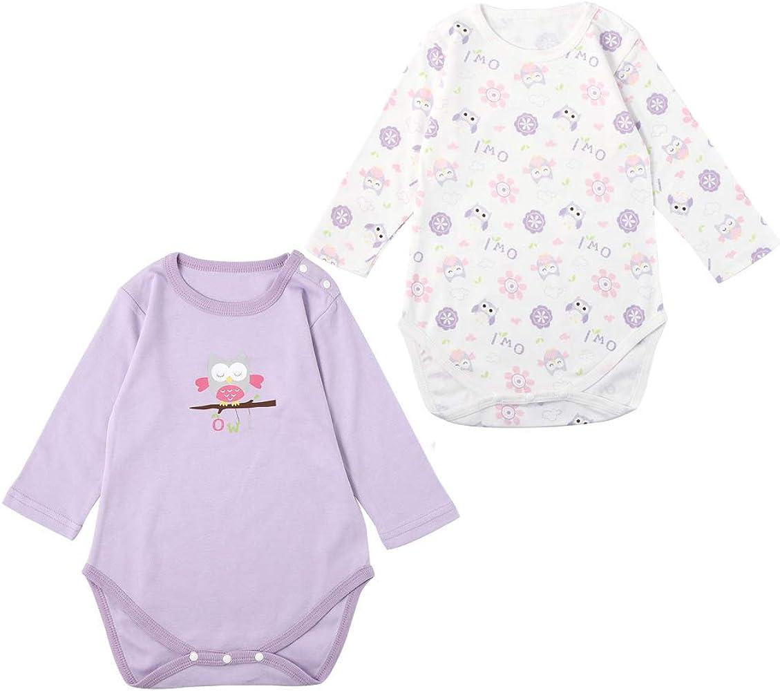 Bebé Niñas Monos de Manga Corta, Verano Pelele de Algodón Mameluco Linda Trajes para Bebé 3-6 Meses: Amazon.es: Ropa y accesorios
