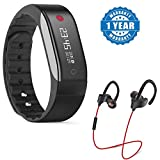 Captcha suitable with Sony Xperia XA Smart Watch Activity Tracker/Heart Rate Monitor With QC-10 Jogger Bluetooth Headphones (1 Year Warranty)