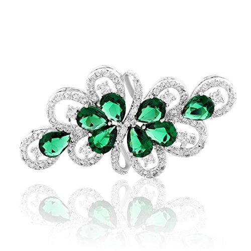 Emerald Green Rhinestone Pin - 1