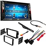 Jvc KWV140BT Double Din Bt In-dash Dvd/cd/am/fm Car Stereo W/6.2 Touchscreen Car Radio Stereo 2-Din Dash Kit Harness for 2006-16 Buick Chevrolet GMC Pontiac Built-In I.R. Camera