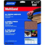 Norton Co. 47765 Norton 76607 General Purpose MultiSand Sheet, 11 in X 9 in, Assorted Grit, quot