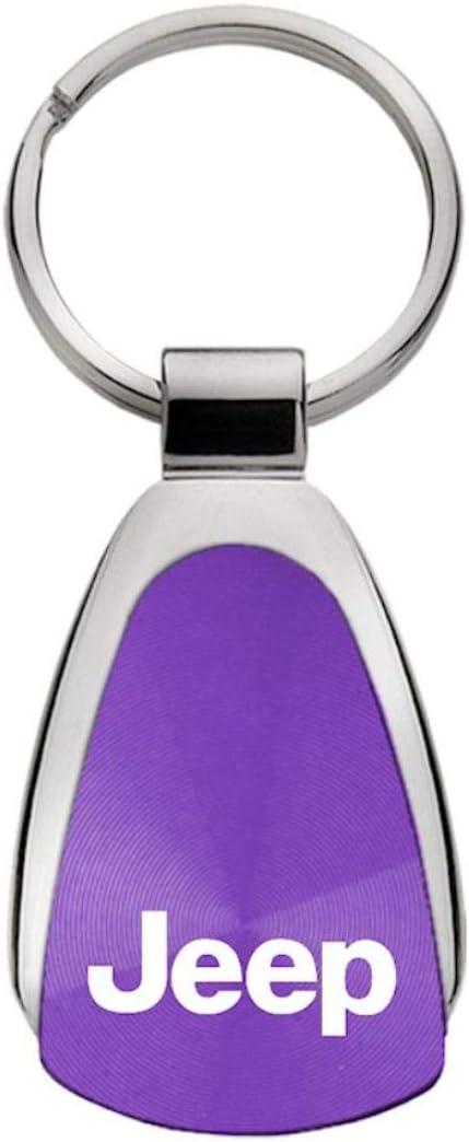 Jeep Purple Teardrop Key Fob Authentic Logo Key Chain Key Ring Keychain Lanyard DanteGTS