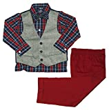 IZOD Little Boy's Herringbone Vest Set with Bow Tie (Dark Blue, 6)