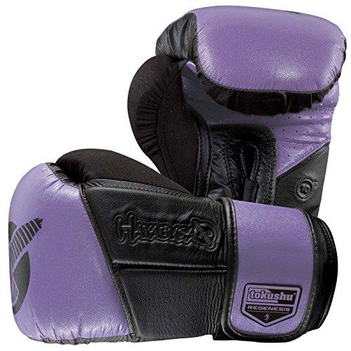 Hayabusa Fightwear Tokushu Regenesis 10oz Gloves, Black/Purple, 10 oz.
