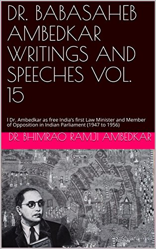 Dr Babasaheb Ambedkar Writings And Speeches Vol 15 L Dr