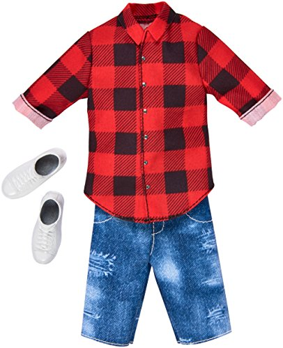 (Barbie Ken Red Plaid Shirt & Demin Shorts Fashion Pack)