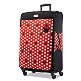 American Tourister Disney Minnie Mouse Dots Softside Checked Luggage with Spinner Wheels, 28 Inch