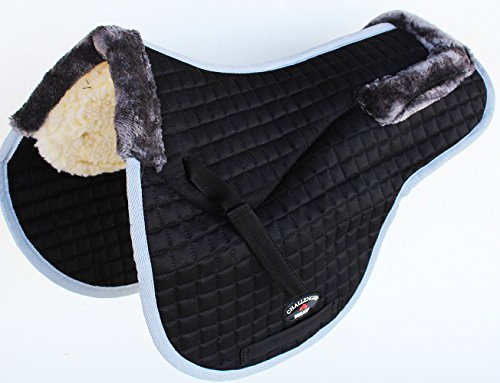 Fleece English Saddle Pads (St. Charles Horse Quilted ENGLISH SADDLE PAD Trail Contour Fleece Lined 72106)