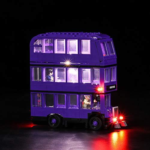 Vonado Led Lighting Kit for Lego 75957 Harry Potter Series The Knight Bus Compatity 4866 Building Bricks Light Set Creator City technic Blocks Toys Gift to Friends Children(Only Lights)]()