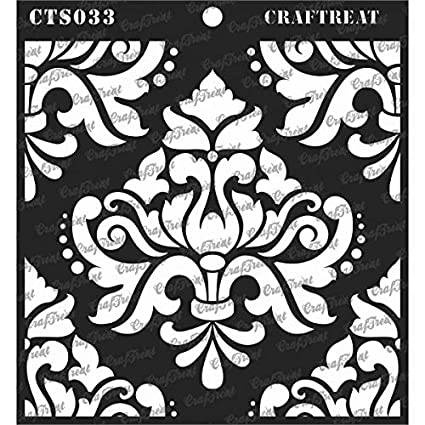 Sentiments Home Decor DIY Albums Tile CrafTreat Stencil Fabric Crafting Wall Wood 6X6 Floor Reusable Painting Template for Journal Scrapbook and Printing on Paper Notebook