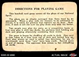 one direction baseball - 1936 S&S Game Directions for Use of Scoreboard (Baseball Card) Dean's Cards 2 - GOOD