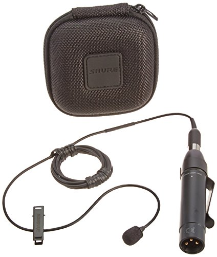 - Shure MX150B/C-XLR Cardioid 5mm Subminiature Lavalier Microphone with XLR Preamp, Black