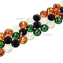 144 pcs (1 gross) Swarovski 2058 Xilion / 2088 Xirius Rose crystal flat backs No-Hotfix rhinestones nail art HALLOWEEN Colors Mix ss20 (4.7mm) **FREE Shipping from Mychobos (Crystal-Wholesale)**
