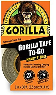 "Gorilla Tape, Mini Duct Tape to-Go, 1"" x 10 yd Travel"