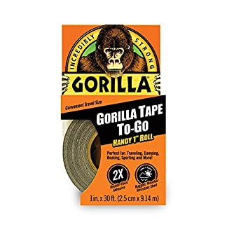 "Gorilla Tape, Mini Duct Tape To-Go, 1"" x 10 yd Travel Size, Black"
