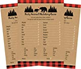 Woodland Rustic Buffalo Plaid Baby Animal Matching Baby Shower Game - 24 count