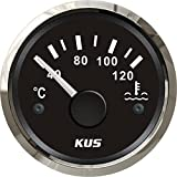 "Kus Waterproof Water Temp Temperature Gauge Meter Indicator 40-120℃ with Backlight 12V/24V 52MM(2"")"