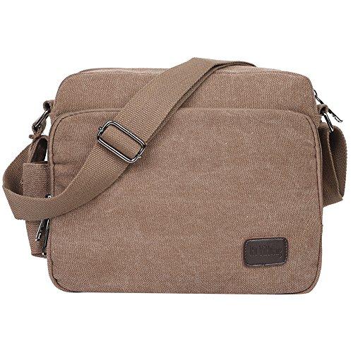 Men's Work And 1 Pack Daily Body Egogo For Brown Use Canvas Bag Satchel Cross Messenger Shoulder Sling Daypack School E527 p6d76qg