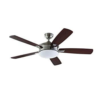 Home Decorators Collection Daylesford 52 In Led Brushed Nickel Ceiling Fan
