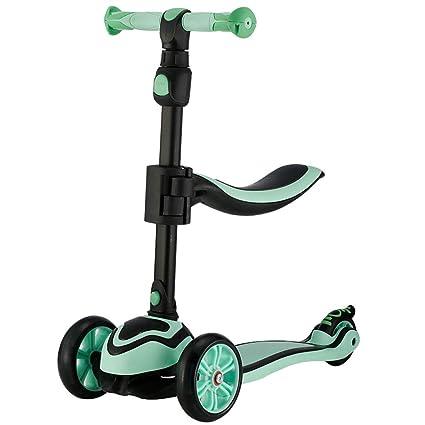 HYE-Patinete Niños pequeños Scooter con Asiento removible ...