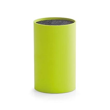 Zeller 24919 - Soporte para Cuchillos (plástico, Interior de cerdas, 11 x 16,5 cm), Color Verde
