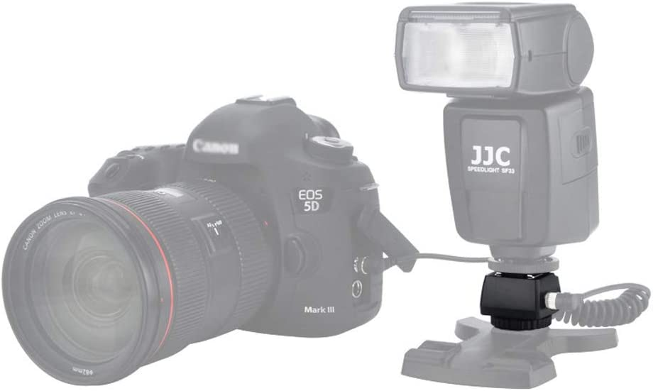Flash Standard Hot Shoe Mount Adapter JJC ISO 518 Hot Shoe with PC Female Outlet /& 3.5mm Mini Phone Socket /& Cold Shoe Foot and 1//4-20 Tripod Socket for Tripod Off-Camera Flash Studio Light,etc