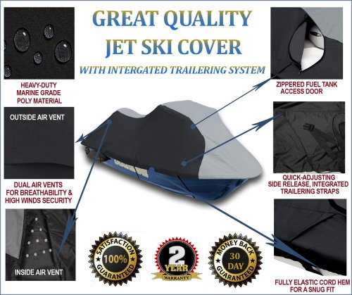 Jet Ski Personal Watercraft Cover fits Yamaha Wave Runner VX Base 2005-2009