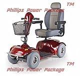 Golden Technologies - Avenger - Heavy Duty Scooter - 4-Wheel - Red - PHILLIPS POWER PACKAGE TM - TO $500 VALUE