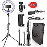 Emart 14 inch Bi-color LED Ring Light Photography with Stand - Ultra Thin Innovation, 40W Dimmable & Color Temperature Adjustable Circle Makeup Lighting Kit for iPhone Selfie, Shooting YouTube Video