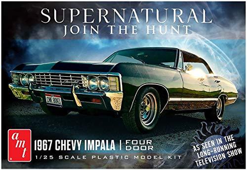 AMT 1967 Chevy Impala 4 Door Supernatural Night Hunter TV Show Model Kit Replica