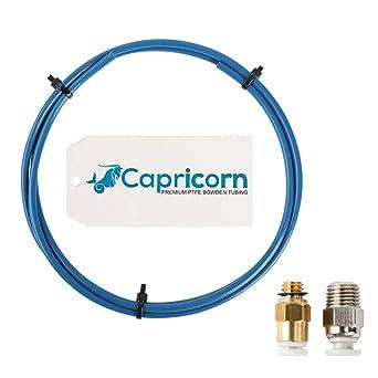 avec raccords PC4-M6 et raccords PC4-M10 Sovol Bowden PTFE Tubes Bleu 1 m/ètres pour imprimante 3D Filament de 1,75 mm