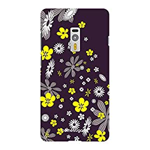 HomeSoGood Flower Path Black Floral 3D Mobile Case For OnePlus 2 (Back Cover)