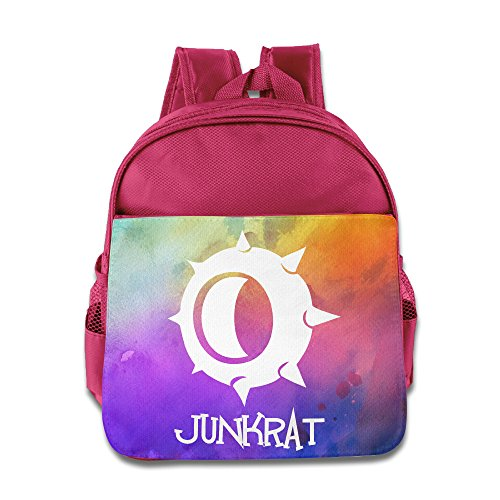 Price comparison product image CEDAEI Junkrat Skill Over First-person Shooter Video Game Watch Funny Kids Shoulders Bag For 1-6 Years Old Pink