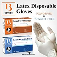 LATEX DISPOSABLE GLOVES POWDERED/POWDERED FREE