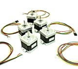 [REPRAPGURU] 5 Pcs NEMA 17 42 stepper motor with wires for 3D Printer or CNC