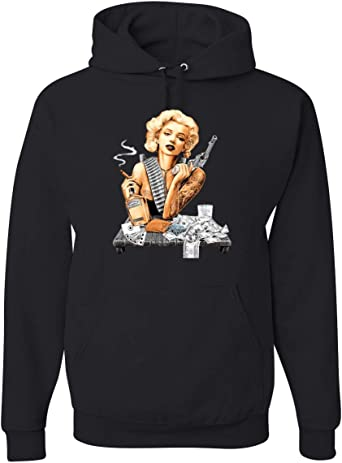 wellcoda Marilyn Dress Womens Hoodie America Hooded Sweatshirt