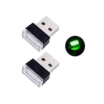 Ice Blue Bello Luna 2Pcs USB Car Interior Ambient Lamp for Car Notebook Power Bank