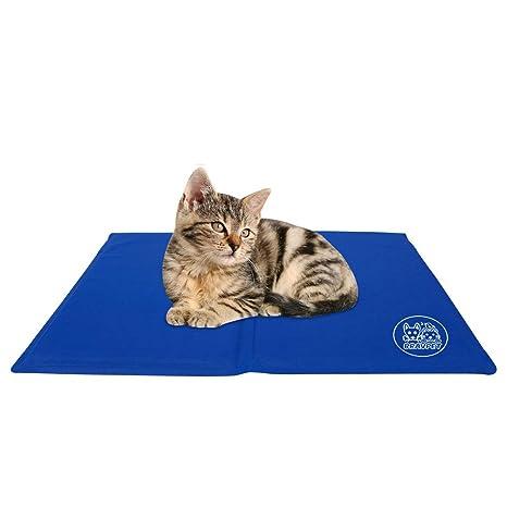 Bravpet Alfombra Refrescante , Relleno Autorefrigerante para mascotas, Comodidad para Perros y Gatos (XL)