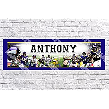 Personalized Wallykazam Name Poster with Color Border Mat Art Decor Wall Banner
