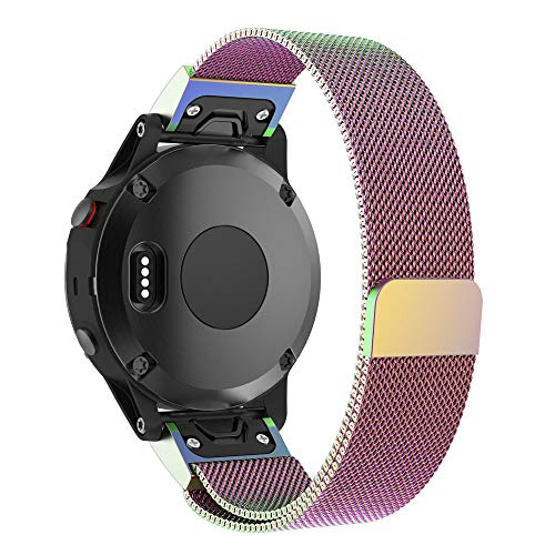 Price comparison product image Watch Band,  H+K+L Milanese Magnetic Quick Install Watch Band Strap For Garmin Fenix 5X / 5X Plus,  5 Colors Available (Multicolor)