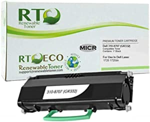 Renewable Toner Compatible MICR Toner Cartridge High Yield Replacement for Dell 310-8707 1720 1720dn