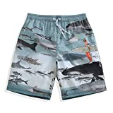 Mens Quick Dry Board Shorts Swim Trunks Ocean World Large 34-35