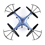 Syma X5HW FPV RC Quadcopter Drone WIFI With HD Camera Altitude Mode 2.4G 6-Axis 4CH VS Syma X5SW Upgrade RC Helicopter RTF (Blue)